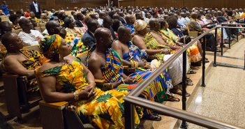 A crowd of more than 300 Ghanaians came to the vice president's town hall.