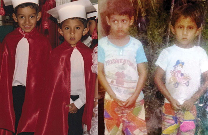 From left: Carlos and Jorge at their preschool graduation. William and Wilbur at about age 6. (Photo courtesy of St. Martin's Press)