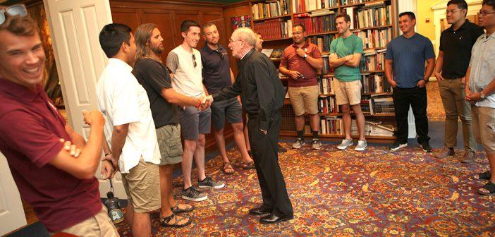 Father McShane and scholastics