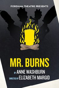 The poster for the production of Mr. Burns