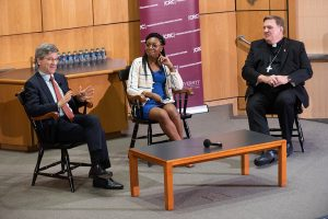 Jeffrey Sachs, Christine Emba and Cardinal Joseph Tobin