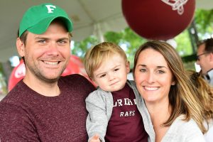 Mike Brady, GABELLI '06, '12, and Katelyn Brady, FCRH '06, with their son Jack