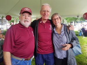Jack McMahon, FCRH '71, Richard King, FCRH '69 and Gale King