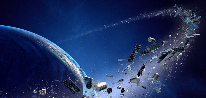 An artist's rendering of orbital debris