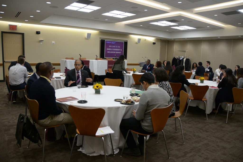 Attendees sit at the second annual Diversity and Inclusion Summit