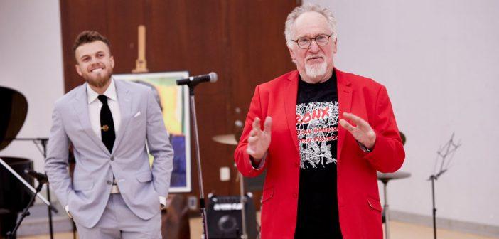 Professor Mark Naison and alumnus Bentley Brown