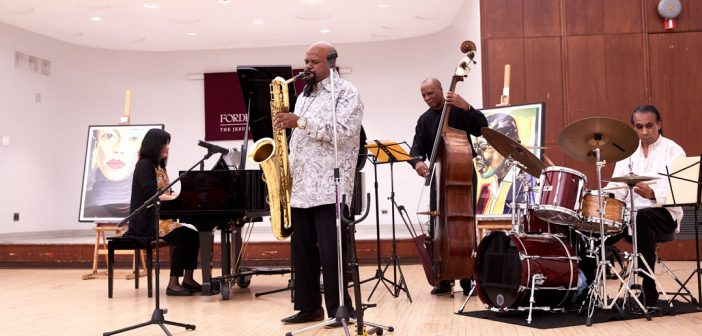 The Dale Fielder Quartet plays in McGinley Ballroom