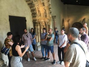 Italian exchange students visit the Cloisters