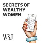 "Logo for the Wall Street Journal's ""Secrets of Wealthy Women"" podcast"