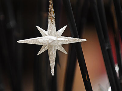 Guests received a Moravian Star Christmas ornament