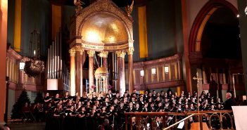 Choir singing at the University Church