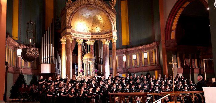 Choir singing at the University Church