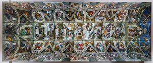 Full view of Michaelangelo's Sistine Chapel paining