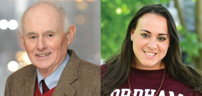 This year's honored alumni leaders. Left: Dennis Kenny; Right: Morgan Vazquez
