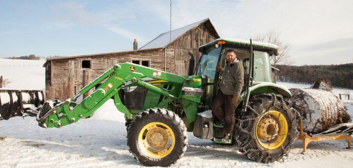 Aubin on his Bison Farm