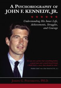 Front cover of Ponterotto's new book, featuring a color portrait of Kennedy Jr. against a black background