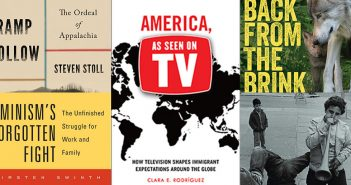 Composite image of the covers of five nonfiction books by Fordham alumni and faculty