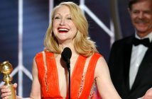 Patricia Clarkson accepts her Golden Globe