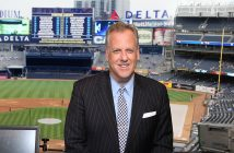 Michael Kay in the booth at Yankee Stadium