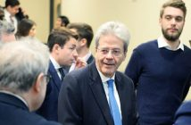 Former Italian Prime Minister Paulo Gentiloni,at the Gabelli School on Feb. 8