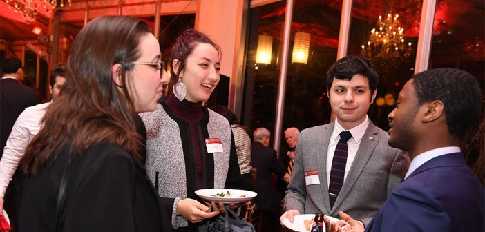 Young alumni gather at the Alumni Recognition Reception