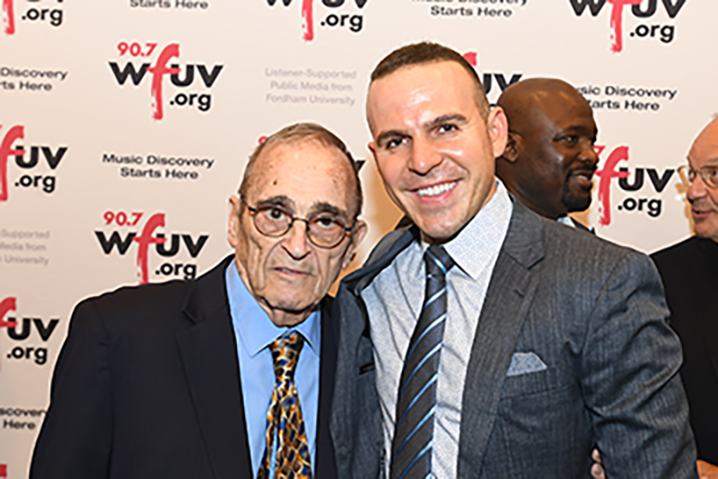 Bob Ahrens and Ryan Ruocco at WFUV's On the Record event in November 2018