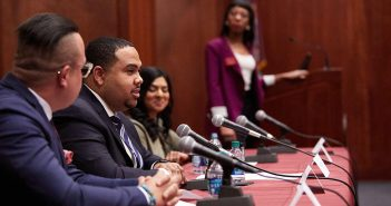 "Panelists at a Fordham alumni career workshop titled ""How to Succeed as a Diverse Candidate"""