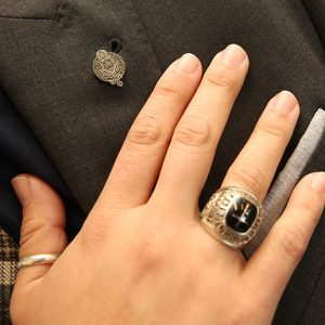 Class ring and pin