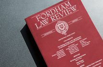 picture of the cover of the Fordham Law Review