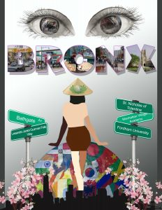 Huyen Lam won third prize for her multimedia graphic about the Bronx.