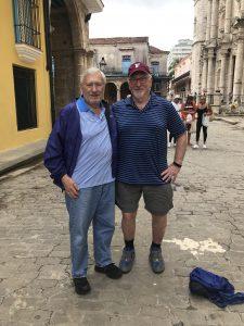 Trustee Emeritus John Wilcha, GABELLI '64, with Mark Naison in Havana
