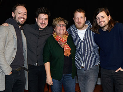 Rita Houston with British band Mumford & Sons