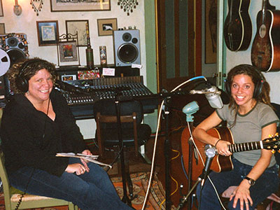 Rita Houston with singer-songwriter Ani DiFranco at her home in Buffalo, New York, in 2004