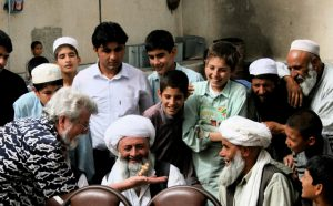 Verner performs for Afghan refugees in Iran.