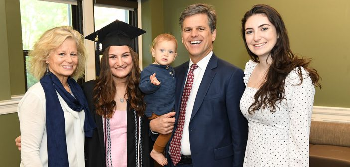 Tim Shriver with his daughters, wife, and grandson