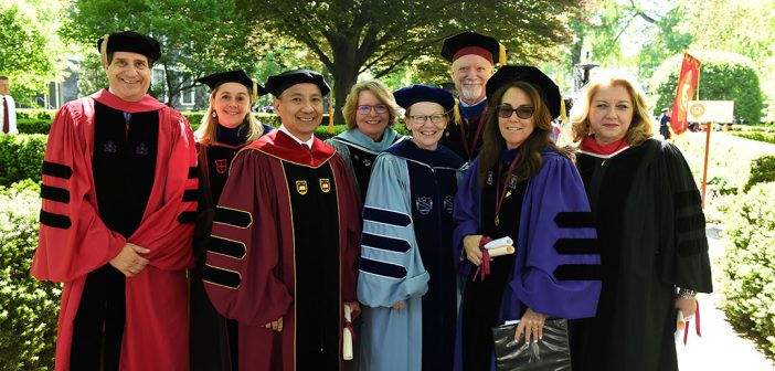 Fordham's deans in their academic robes