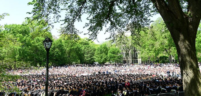 The big crowd on Edwards Parade for commencement