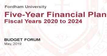 The title slide for the budget presentation for fiscal years 2020 to 2024