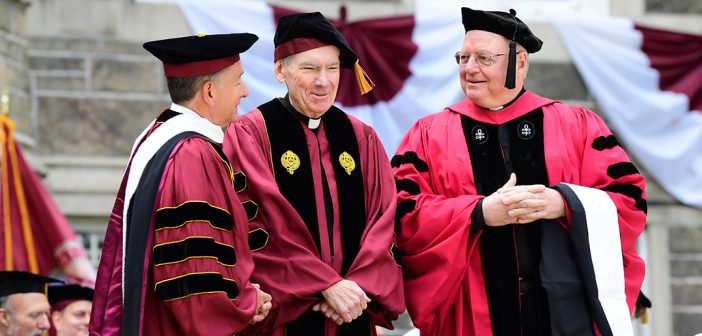 Men in red academic robes