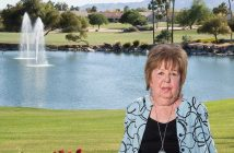 Karen Manning near her home in Arizona