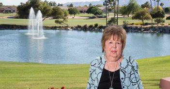 Karen Manning near her home in Arizona