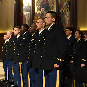 Fordham ROTC cadets at their 2019 commissioning