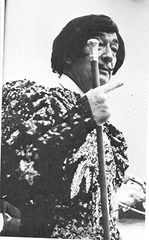 Salvador Dali speaking at Rose Hill in 1965.