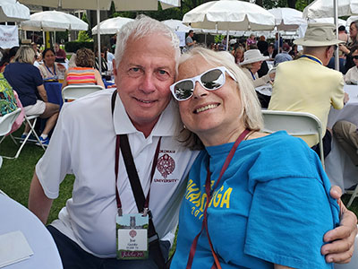 A man and a woman--friends from the Class of 1974