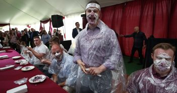 PIe-eating contest on Dagger John Day