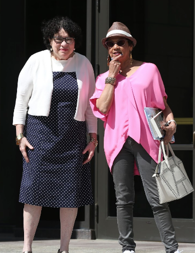 Sonia Sotomayer and Sonia Manzano standing together