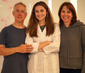 Cecilia Reisner and her parents