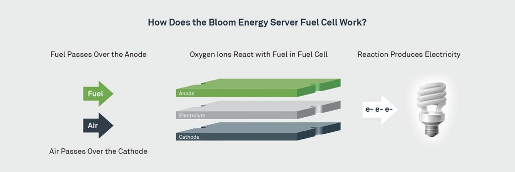 diagream explaining how a fuel cell works