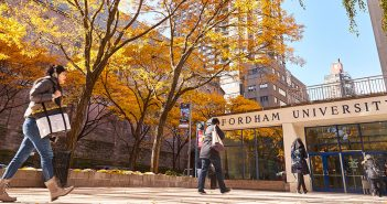 Fall scene of the Lincoln Center campus