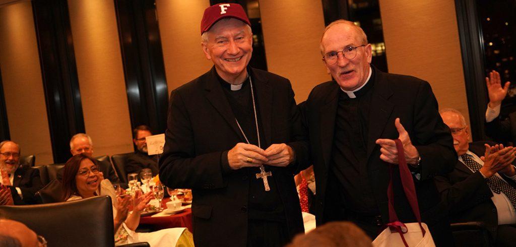Cardinal in Fordham Cap